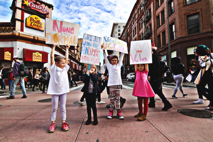 alt= biljana girls on protest