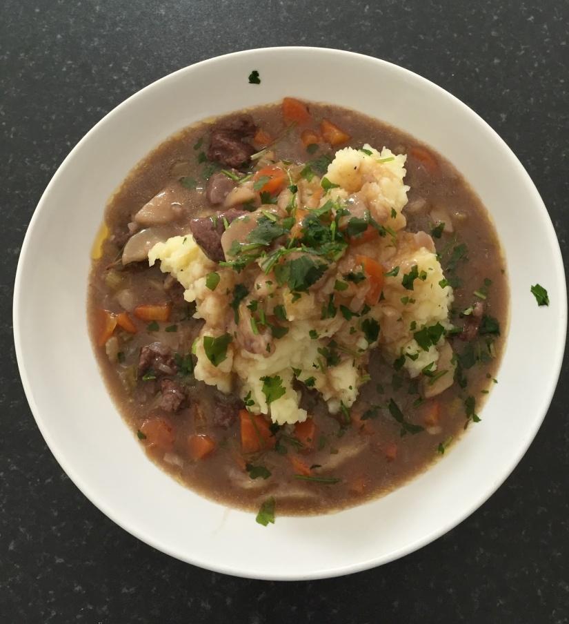 alt= B's Beef Stew with Potato & Celery Mash